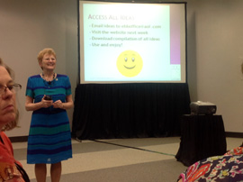 Elaine presenting at ASTD ICE 2013